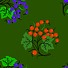 Vector clipart: Seamless background with currant .