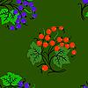 Vektor Cliparts: Nahtloser Hintergrund mit Johannisbeeren.