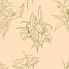 Векторный клипарт: Бесшовный фон с цветком.