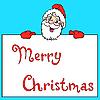 Vector clipart: Happy Santa Claus