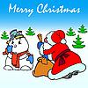 Векторный клипарт: Дед Мороз и Снеговик