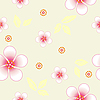 Vektor Cliparts: Seamless floral background