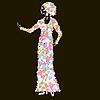 Vector clipart: Beautiful woman
