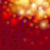 Векторный клипарт: абстрактный красочный фон с нотами