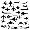 Vector clipart: Combat aircraft.