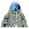 Vector clipart: military pilot