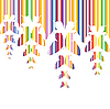 Vector clipart: Abstract colourful background with butterflies