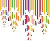Векторный клипарт: абстрактный красочный фон с бабочками