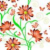 Vector clipart: Elegant seamless flower pattern