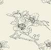 Векторный клипарт: Бесшовный фон с цветами орхидеи