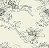 Бесшовный фон с цветами орхидеи