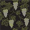 Векторный клипарт: Бесшовный фон с виноградом