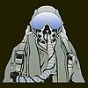 Векторный клипарт: Военный летчик