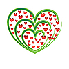 red and green hearts