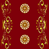 Vector clipart: red ornamental pattern