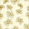 Vektor Cliparts: Nahtloses Pattern mit Blumen
