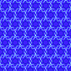 Vector clipart: Blue nuclear pattern