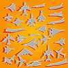 Vector clipart: airplane stickers