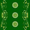 Векторный клипарт: зеленый узор-орнамент