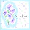 Векторный клипарт: светло-голубой фон с богатыми цветы