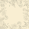 Vektor Cliparts: floral background, Rahmen aus Blumen