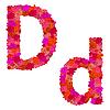 Vektor Cliparts: Blumen-Alphabet Zeichen Dd