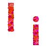 Векторный клипарт: Цветочный алфавит из красных роз, персонажи II