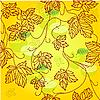 Векторный клипарт: Бесшовный фон с листьями и яблоками