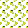 Векторный клипарт: Бесшовный фон с яблоками