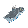 Vector clipart: supercarrier