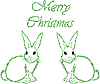Vector clipart: white hares