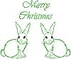 Векторный клипарт: Белые зайцы