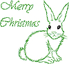 Vector clipart: white hare