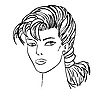 Vector clipart: Woman`s face