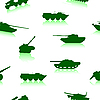 Vector clipart: Tank Weapon seamless pattern
