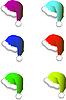 Векторный клипарт: новогодние шапки