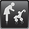 Vector clipart: Woman 3D icon with children