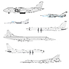 Vector clipart: Combat aircrafts