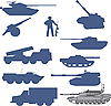 Vector clipart: set tanks collection