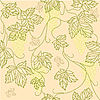 Vector clipart: seamless pattern with leaves and grapes