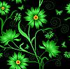 Vector clipart: Seamless flower pattern