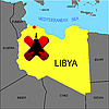 Vector clipart: Prohibition of flights over Libya