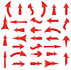 set of red arrows