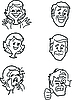 Vector clipart: Various emotions