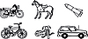 Vector clipart: Vehicles