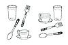 Vector clipart: Set of tableware