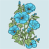 Vector clipart: An elegant bouquet of beautiful flowers