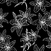 Vector clipart: Seamless pattern with beautiful flowers