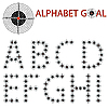 Vector clipart: alphabet of the target, hit the target