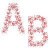 Vector clipart: ornamental alphabet. Letter AB